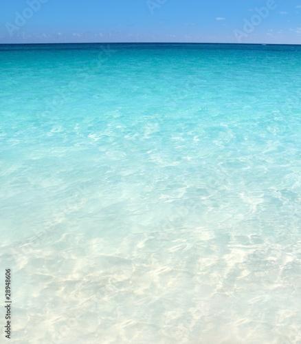 Fotobehang Caraïben Caribbean turquoise sea beach shore white sand