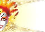 Fototapety Mashera Giullare Jolly-Joker Mask Background-Vector