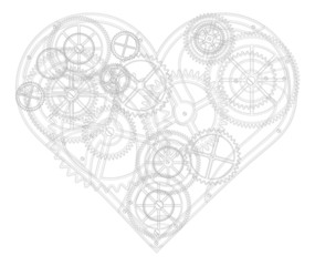 Abstract background for valentine's day. Mechanical heart. The d