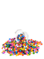 multicoloured beads out of glass  - Background