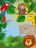 Cute jungle background