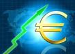 Euro increasing value illustration