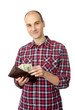 man holding some dollars
