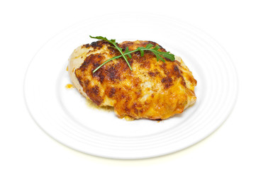 chicken breast baked in cheese