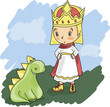 Little Prince with a Dragon