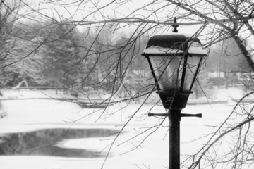 Antique Lamp in Winter