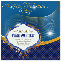 Greeting card for Valentine's Day and other holidays