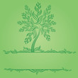Design with decorative tree from leafs