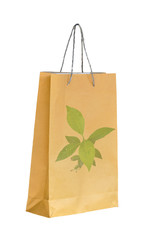 Shopping recycle paper bag for save environment