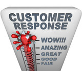 Thermometer - Customer Response poster