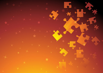 Vector golden puzzle