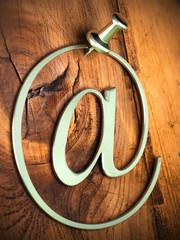 arrobase reflets vert, e-mail symbole, arobas