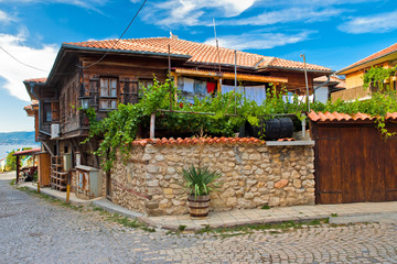 The typical house in Nesebr, Bulgaria