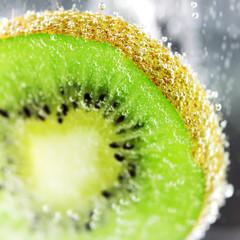 Kiwifruit pulp close