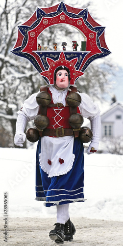 St Sylvester mummers perform in the village of Urnasch