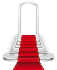 Scalinata con tappeto rosso