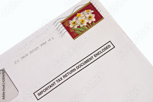 Tax form in envelope