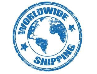 Worldwide Shipping stamp