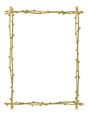 twig sprig frame pattern background