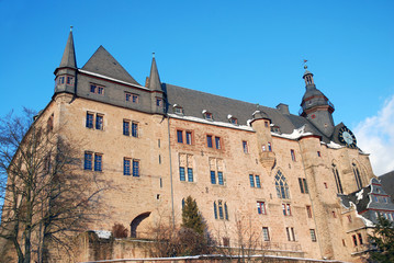 Marburger Schloss Wintersonne