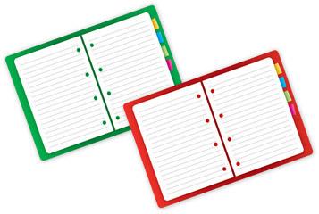 Green and Red Notebook