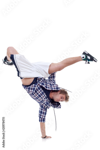 breakdancer standing in cool freeze pose