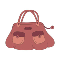 Handbag, hand drawn illustration