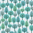 seamless pattern with a winter forest