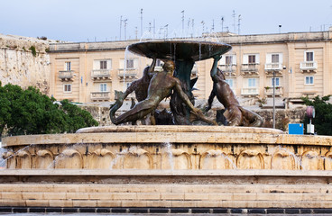Triton fountain. Malta