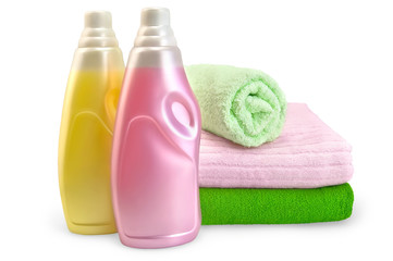 Fabric softener with towels