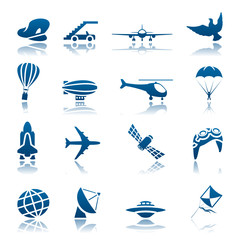 Aircraft icon set