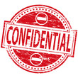 """Rubber stamp illustration showing """"CONFIDENTIAL"""" text"""
