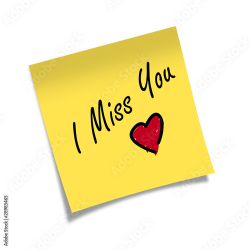 Post-it I MISS YOU