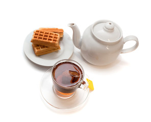 The Viennese wafers and tea