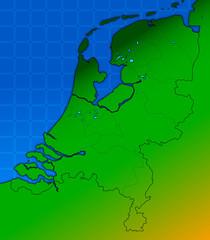 mappa olanda, paesi bassi