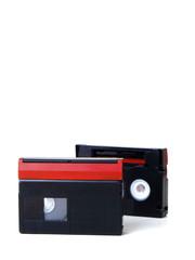Mini DV tape isolated on white background