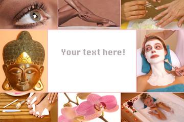 Collage mit Textfreiraum - Kosmetik