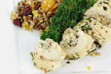 Chicken Roulade and  Pilaf