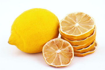lemon and dried slices