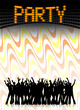 plakat retro led party I