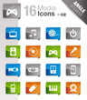 Angle Stickers - Media Icons 02