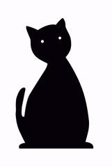 silouhette de chat noir