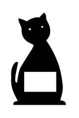 pense bête chat noir avec espace libre