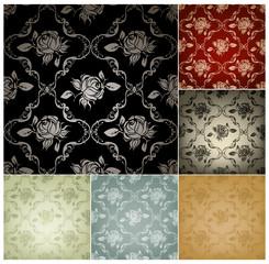 Seamless Pattern, set of six colors