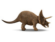 3d Triceratops dinosaur side view