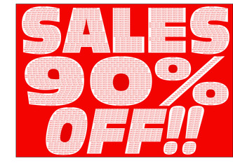 Sales 90% Off