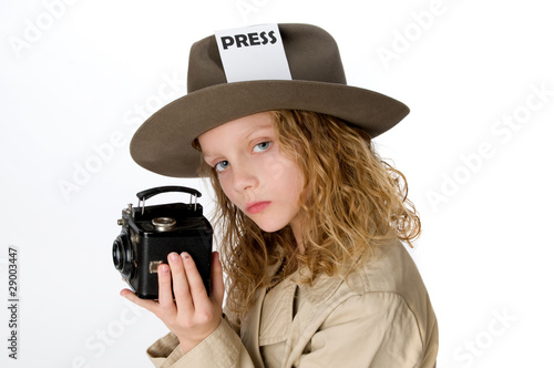 Little Girl Reporter