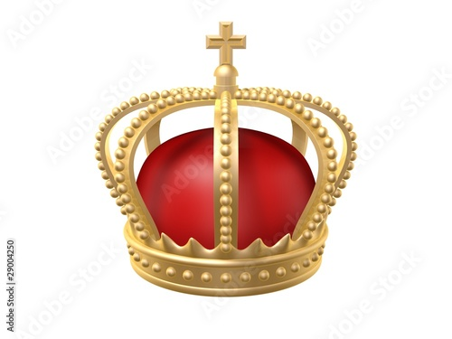 crown of lord isolated on white background