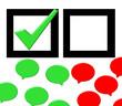 Wahl - Diskussionssprechblasen