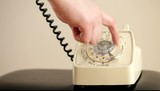 Dialing with an old rotary phone